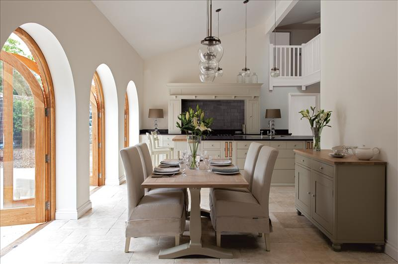 3 The full view if this stunning Neptune Suffolk kitchen with a Suffolk sideboard in Honed Slate and Harrogate table