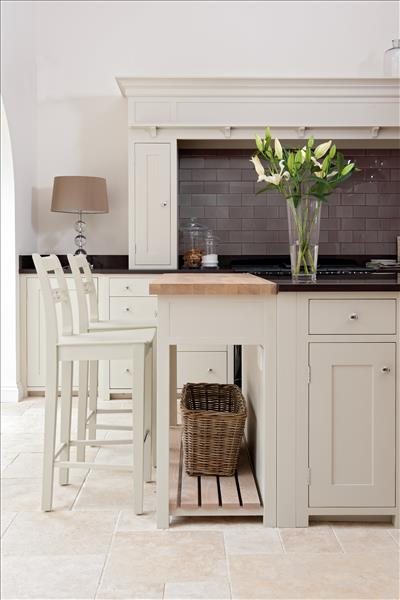 2 Neptune Suffolk Potboard and Bar Stools used to create a breakfast bar